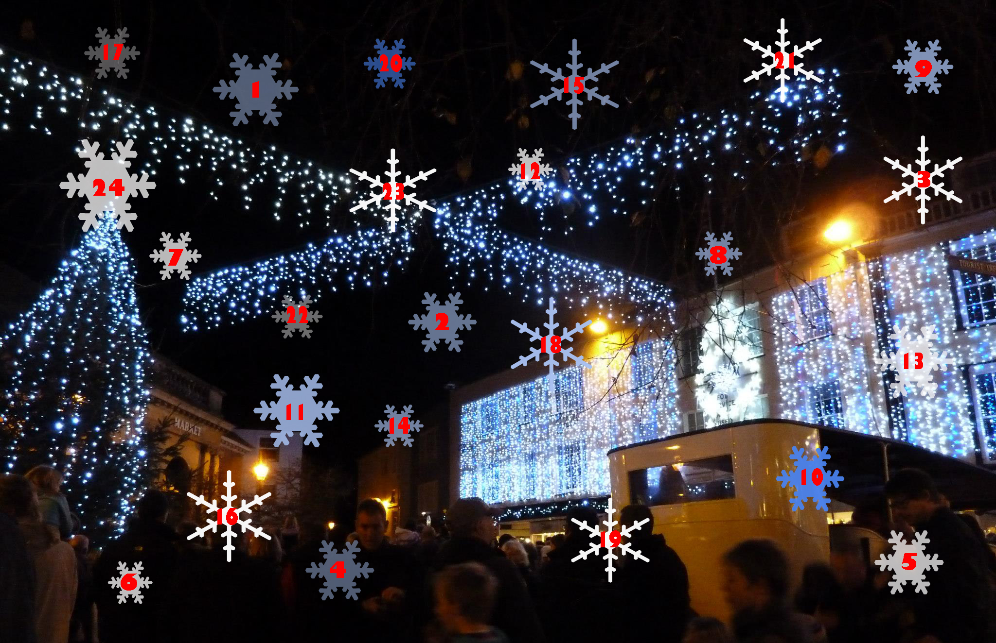 ... snowflakes each day in our Sidmouth Christmas lights advent calendar